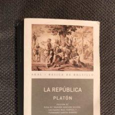 Libros de segunda mano: LA REPUBLICA. PLATON.EDITORIAL AKAL. (A.2009). Lote 104098166