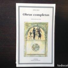Libros de segunda mano: EPICURO. OBRAS COMPLETAS.. Lote 104249582