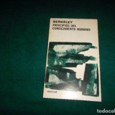 Libros de segunda mano: BERKELEY, PRINCIPIOS DEL CONOCIMIENTO HUMANO. AGUILAR ARGENTINA 1984. Lote 104405723