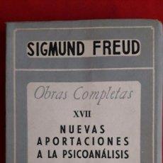 Libros de segunda mano - NUEVAS APORTACIONES A LA PSICOANALISIS / SIGMUND FREUD / SANTIAGO RUEDA EDITOR / 1ª EDICIÓN 1953 - 105141231
