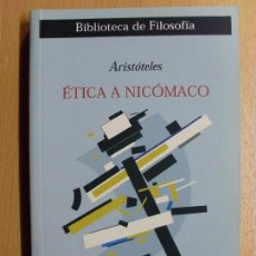 Libros de segunda mano: ÉTICA A NICÓMANO / ARISTÓTELES / 2ª EDICIÓN 2003. MESTAS. Lote 106093587