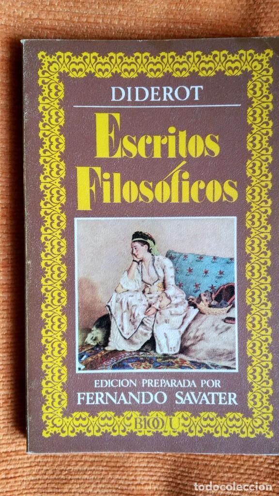 ESCRITOS FILOSÓFICOS. D.DIDEROT. ED. NACIONAL. 1981. (Libros de Segunda Mano - Pensamiento - Filosofía)