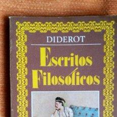 Libros de segunda mano: ESCRITOS FILOSÓFICOS. D.DIDEROT. ED. NACIONAL. 1981.. Lote 107300899