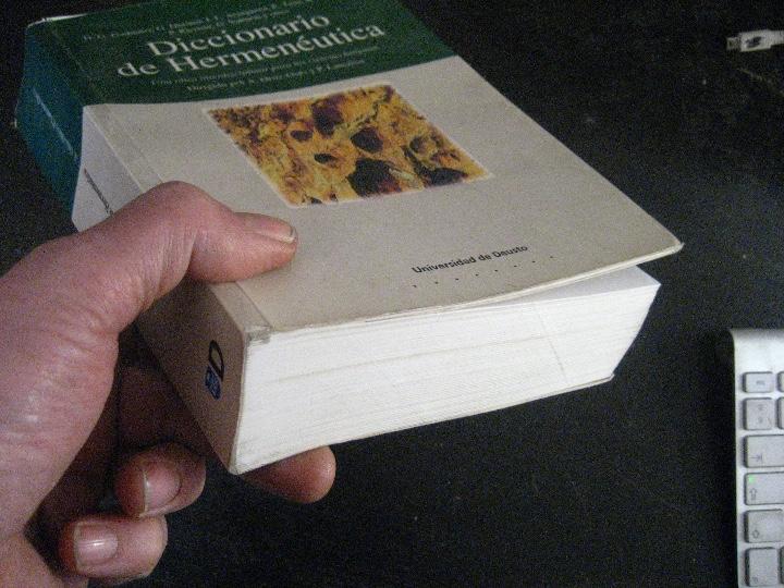 Gebrauchte Bücher: Diccionario Hermeneútica Lanceros y Andrés Ortiz-Osés, universidad de desuso - Foto 2 - 115560964