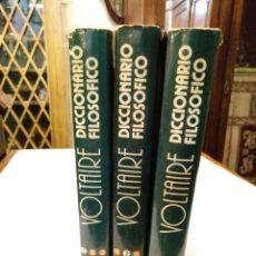 Libros de segunda mano: VOLTAIRE - DICCIONARIO FILOSÓFICO - VERSION COMPLETA EN 3 TOMOS - DAIMOND 1976. Lote 108428274