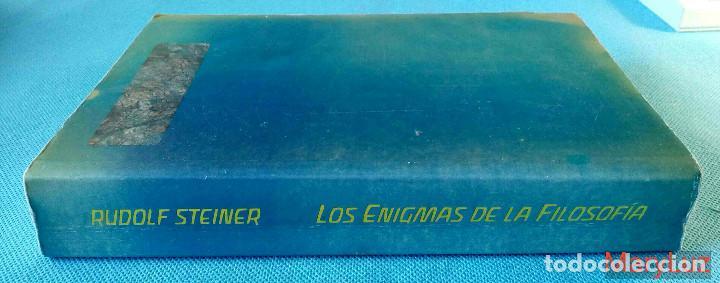 Libros de segunda mano: LOS ENIGMAS DE LA FILOSOFÍA -Rudolf Steiner- (Antroposofía). - Foto 3 - 108460451