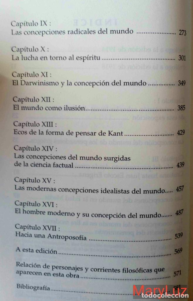 Libros de segunda mano: LOS ENIGMAS DE LA FILOSOFÍA -Rudolf Steiner- (Antroposofía). - Foto 8 - 108460451