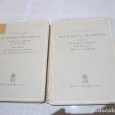 Libros de segunda mano: - NOVEDADES DE FILOSOFÍA LÓGICA - Y - LOS SISTEMAS FILOSÓFICOS - J. CARRERAS. EDICIÓN 1954. Lote 108877911