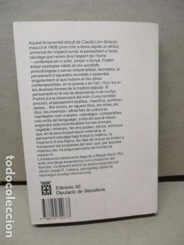 Libros de segunda mano: EL PENSAMENT SALVATGE. Traduccio de Miquel Marti i Pol (Catalán) – 1985 - de Claude Levi Strauss - Foto 7 - 109317955