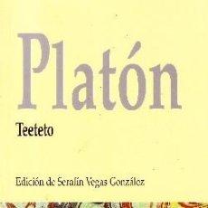 Libros de segunda mano: PLATON. TEETEO. VEGAS GONZALEZ, SERAFIN. FI-227. Lote 109380095