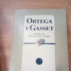 Libros de segunda mano: ORTEGA Y GASSET: ANTOLOGIA (TEXTOS CARDINALES). Lote 109381975