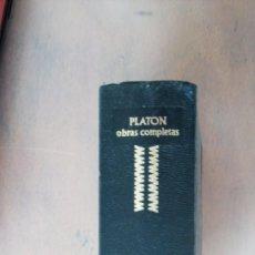 Libros de segunda mano: GRANDES CULTURAS, OBRAS COMPLETAS PLATÓN, AGUILAR. Lote 111357591