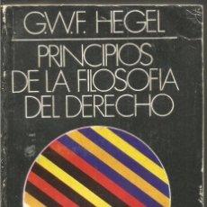 Libros de segunda mano: G.W.F. HEGEL. PRINCIPIOS DE LA FILOSOFIA DEL DERECHO. EDITORIAL SUDAMERICANA. Lote 112752431