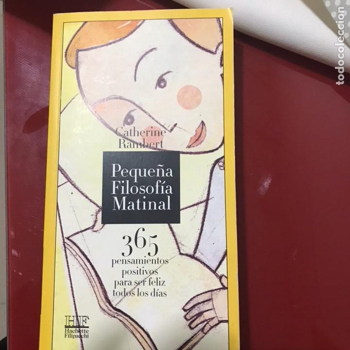 Libros de segunda mano: Pequeña filosofía matinal 365 pensamientos para ser feliz - Foto 2 - 122535980