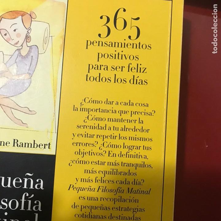 Libros de segunda mano: Pequeña filosofía matinal 365 pensamientos para ser feliz - Foto 9 - 122535980