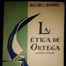 Libros de segunda mano: LA ÉTICA DE ORTEGA. JOSÉ LUIS L. ARANGUREN. CUADERNOS TAURUS 1. SEGUNDA EDICIÓN. AÑO 1959. RÚSTICA.. Lote 113242396