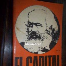 Libros de segunda mano: MARX.EL CAPITAL.CRITICA DE LA ECONOMIA POLITICA.FONDO CULTURA ECONOMICA.1976.VOLUMEN II. Lote 113332907