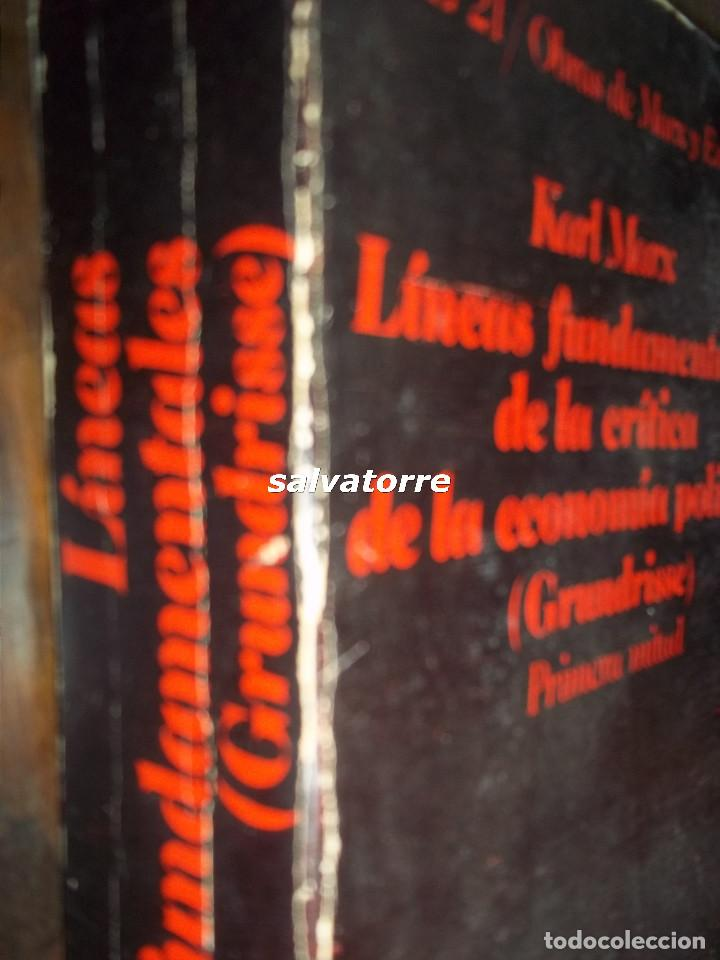Libros de segunda mano: KARL MARX.LINEAS FUNDAMENTALES DE LA CRITICA DE LA ECONOMIA POLITICA.PRIMERA MITAD.CRITICA.1977 - Foto 2 - 113341579