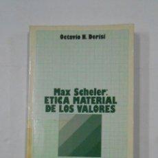 Libros de segunda mano: MAX SHELER: ETICA MATERIAL DE LOS VALORES. - DERISI, OCTAVIO M. TDK148. Lote 136091244