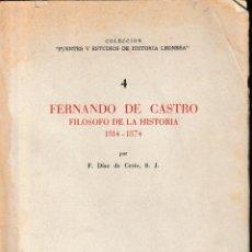 Libros de segunda mano: FERNANDO DE CASTRO. FILÓSOFO DE LA HISTORIA (F. DÍAZ DE CERIO, 1970) SIN USAR. Lote 113990363