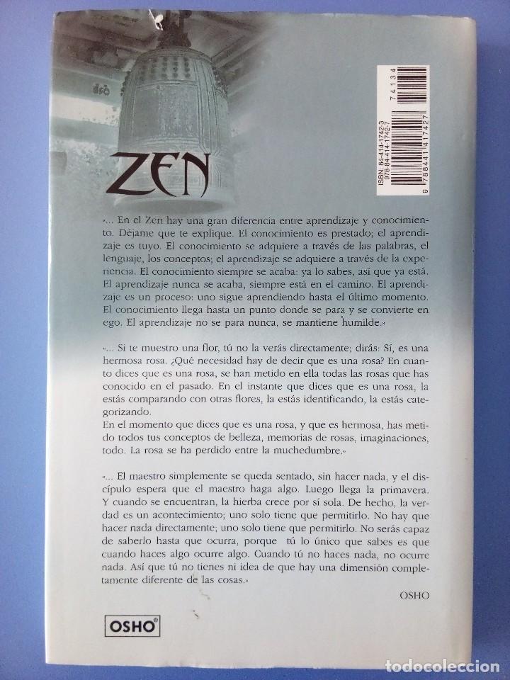 Libros de segunda mano: ZEN LA HIERBA CRECE SOLA OSHO EDITORIAL EDAF 1ª EDICION 2006 FILOSOFIA ORIENTAL BUDISMO INDIA - Foto 3 - 114628283