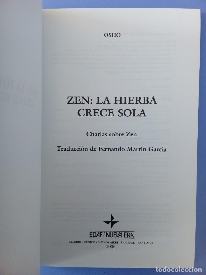 Libros de segunda mano: ZEN LA HIERBA CRECE SOLA OSHO EDITORIAL EDAF 1ª EDICION 2006 FILOSOFIA ORIENTAL BUDISMO INDIA - Foto 4 - 114628283