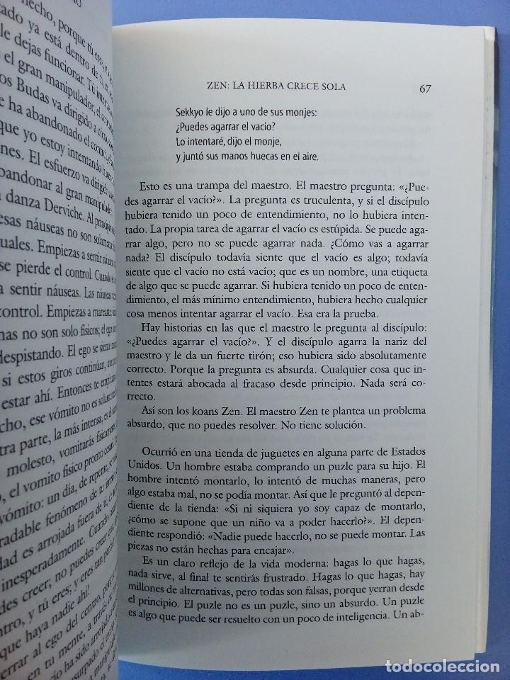 Libros de segunda mano: ZEN LA HIERBA CRECE SOLA OSHO EDITORIAL EDAF 1ª EDICION 2006 FILOSOFIA ORIENTAL BUDISMO INDIA - Foto 5 - 114628283