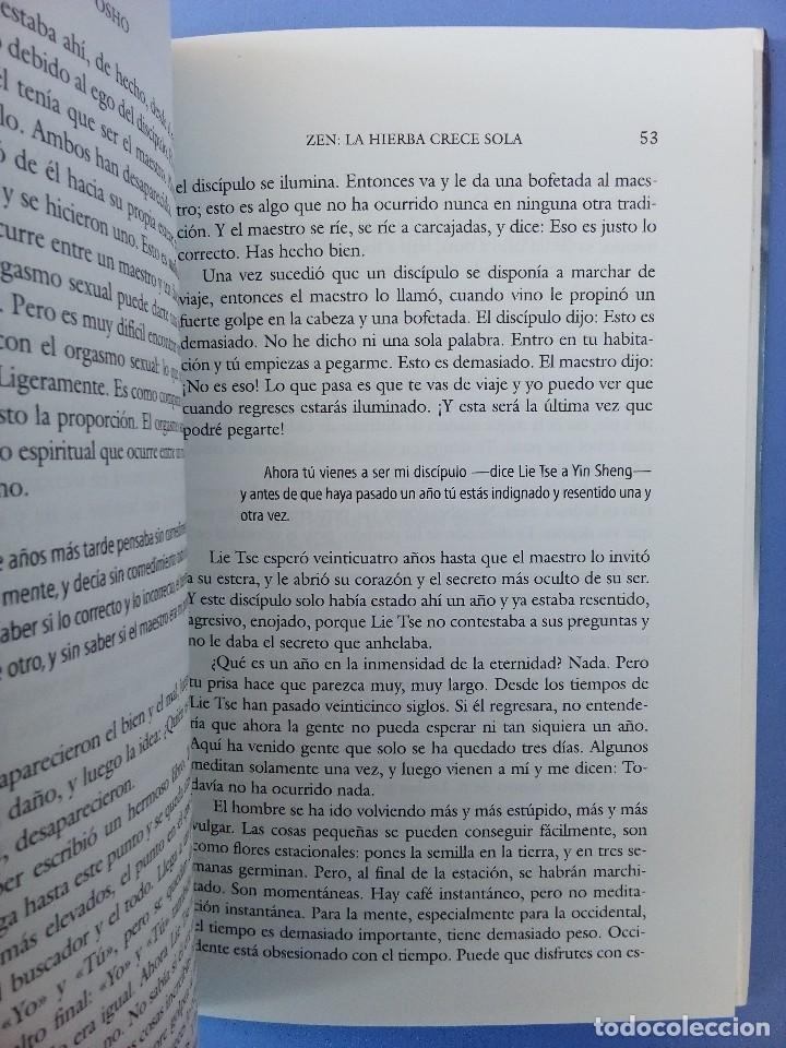 Libros de segunda mano: ZEN LA HIERBA CRECE SOLA OSHO EDITORIAL EDAF 1ª EDICION 2006 FILOSOFIA ORIENTAL BUDISMO INDIA - Foto 6 - 114628283