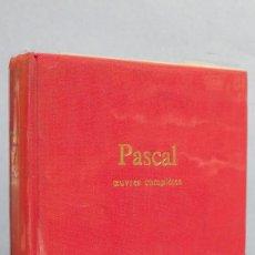 Libros de segunda mano: OEUVRES COMPLETES. COLLECTION L'INTEGRALE. PASCAL. ED. SEUIL. Lote 114788895