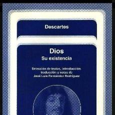 Libros de segunda mano: B290 - DIOS. SU EXISTENCIA. DESCARTES. FILOSOFIA. METAFISICA.. Lote 141737146