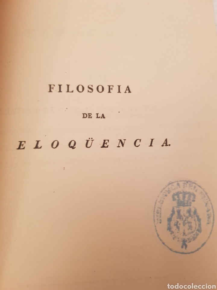 Libros de segunda mano: Edicion facsimil FILOSOFÍA DE LA ELOCUENCIA de D Antonio de Capmany y montparlau. Ejemplar facsímil - Foto 5 - 117067186