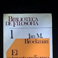 Libros de segunda mano: EL ESTRUCTURALISMO 1. JAN M. BROEKMAN. HERDER BARCELONA 1974. BIBLIOTECA DE FILOSOFIA.. Lote 117709567