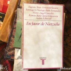Libros de segunda mano: EN FAVOR DE NIETZSCHE. TAURUS . SUBRAYADO. Lote 118316376