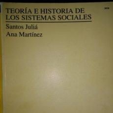 Libros de segunda mano: TEORÍA E HISTORIA DE LOS SISTEMAS SOCIALES. FILOSOFÍA. UNIVERSIDAD NACIONAL DE EDUCACIÓN A DISTANCIA. Lote 118459070