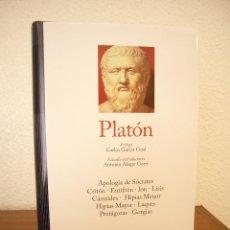 Libros de segunda mano: PLATÓN: DIÁLOGOS, I (GREDOS, GRANDES PENSADORES, 2017) COMO NUEVO. Lote 119219283