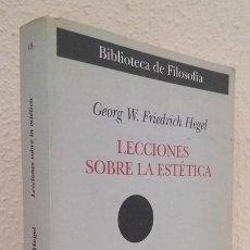 Libros de segunda mano: HEGEL, G. W. F.: LECCIONES SOBRE LA ESTÉTICA (MESTAS) (LB). Lote 119330651