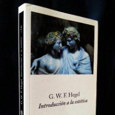 Libros de segunda mano: INTRODUCCIÓN A LA ESTÉTICA   HEGEL, GEORG WILHELM FRIEDRICH   PENÍNSULA 2001. Lote 120772831