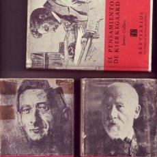 Libros de segunda mano: CONJUNTO DE 2 OBRAS SOBRE FILOSOFÍA DE LA COLECCIÓN BREVIARIOS DEL FONDO DE CULTURA ECONÓMICA:. Lote 120910471