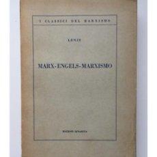 Libros de segunda mano: MARX - ENGELS - MARXISMO. Lote 121015038