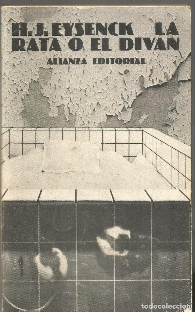 H.J. EYSENCK. LA RATA O EL DIVAN. ALIANZA EDITORIAL (Libros de Segunda Mano - Pensamiento - Filosofía)
