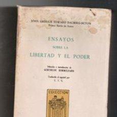 Libros de segunda mano: ENSAYOS SOBRE LA LIBERTAD Y EL PODER, JOHN EMERICH EDWARD DALBERG ANTON. Lote 122108535
