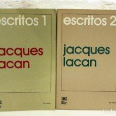 Libros de segunda mano: ESCRITOS 1 Y 2, JACQUES LACAN. SIGLO VEINTIUNO EDITORES 20A Y 19A ED. 1998.. Lote 122154719