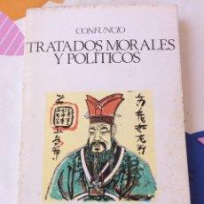 Libros de segunda mano: TRATADOS MORALES Y POLÍTICOS - CONFUCIO - OBRAS MAESTRAS -. Lote 122184592