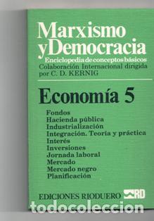 MARXISMO Y DEMOCRACIA. ECONOMÍA 5 (Libros de Segunda Mano - Pensamiento - Filosofía)