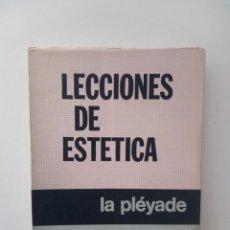 Libros de segunda mano: LECCIONES SOBRE LA ESTÉTICA - G. W. F HEGEL (PLÉYADE, BUENOS AIRES 1977). Lote 124629347