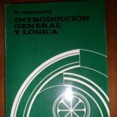 Libros de segunda mano: CURSO DE FILOSOFÍA TOMISTA. INTRODUCCIÓN GENERAL Y LÓGICA. R. VERNEAUX. . HERDER. Lote 165602469