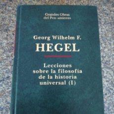 Libros de segunda mano: LECCIONES SOBRE LA FILOSOFIA DE LA HISTORIA UNIVERSAL ( I ) - GEORG HEGEL -- ATALAYA 1997 --. Lote 126345747