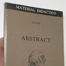 Libros de segunda mano: ABSTRACT - DAVID HUME. Lote 126663623