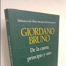 Libros de segunda mano: DE LA CAUSA, PRINCIPIO Y UNO. Lote 126851523