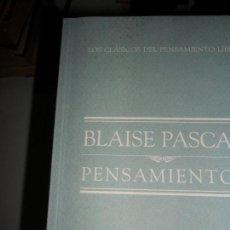 Libros de segunda mano: PENSAMIENTOS, BLAISE PASCAL, ED. EL MUNDO. Lote 127574519